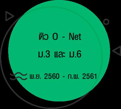 ติว O - Net ม.3 และ ม.6 ปี 2560